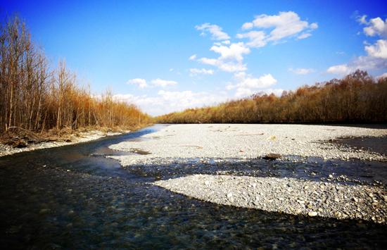 札内川 河口近く