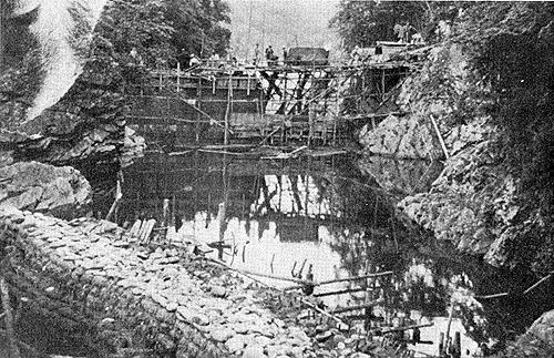 ダム建設時の様子