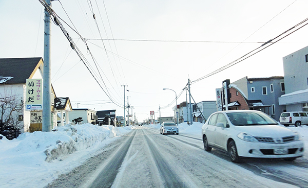 市街地の路面